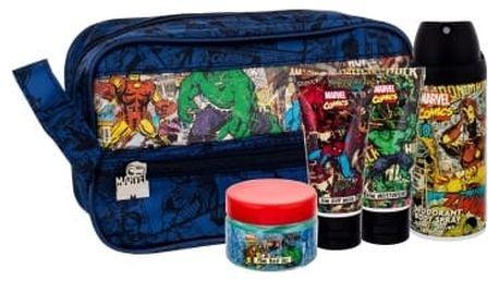 Marvel Comics Hero dárková kazeta deospray deodorant 150 ml + sprchový gel 50 ml + hydratační krém 50 ml + gel na vlasy 75 ml + kosmetická taška