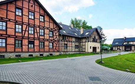 Polsko u zámku Kliczków pro dva s wellness