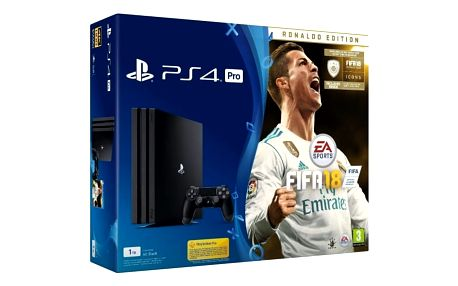 Sony PlayStation 4 Pro 1TB + FIFA 18 Ronaldo Edition + PS Plus
