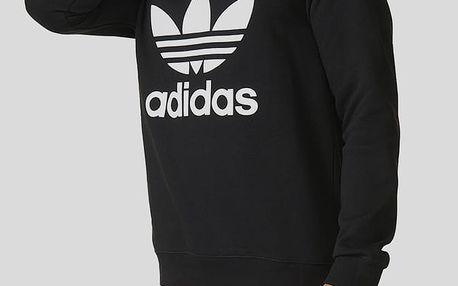 Mikina adidas Originals TREFOIL CREW Černá