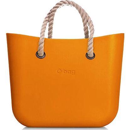 Obag kabelka MINI Becco Doca s provazovými držadly natural