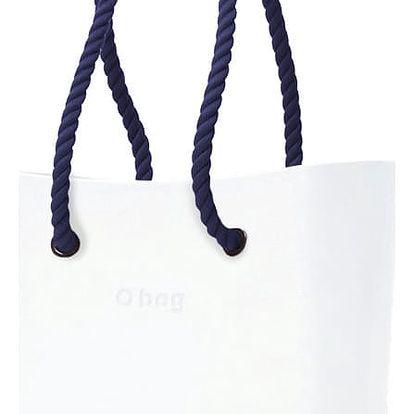 Obag kabelka Bianco s modrými provazovými držadly