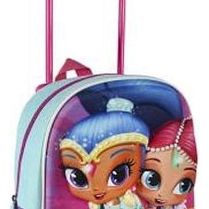 Školní taška na kolečkách 3D Shimmer and Shine 913