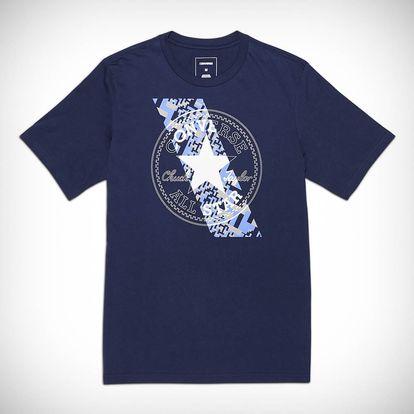 Converse tmavě modré pánské tričko Chuckpatch Constrast Slash Tee