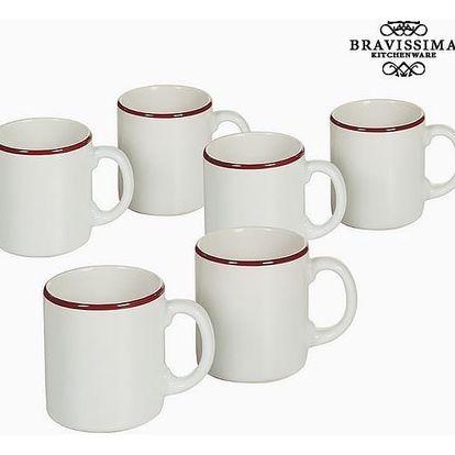 Set of jugs China crockery Bílý Burgundská 6 pcs - Kitchens Deco Kolekce by Bravissima Kitchen