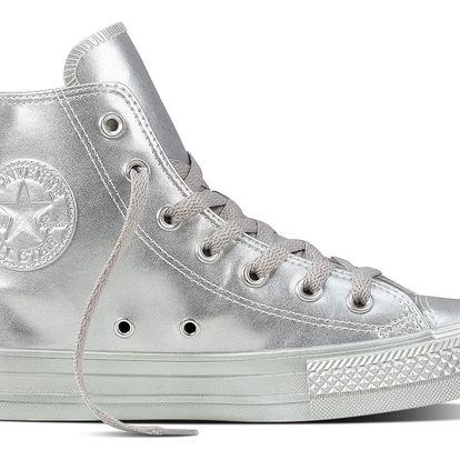 Converse stříbrné dámské tenisky Chuck Taylor All Star Hi Silver