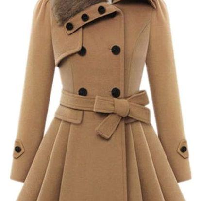 Dámský zimní kabát Gabriele v plus size velikostech