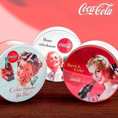 Kulatá Retro Plechová Krabice Coca-Cola