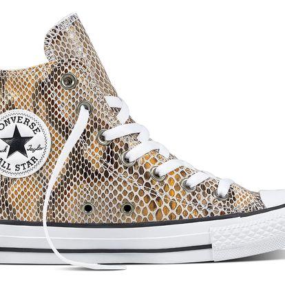 Converse kožené tenisky s motivem hadí kůže Chuck Taylor All Star Natural/Black/White