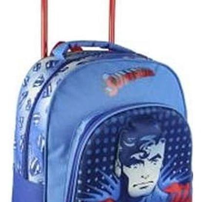 Školní taška na kolečkách 3D Superman 392