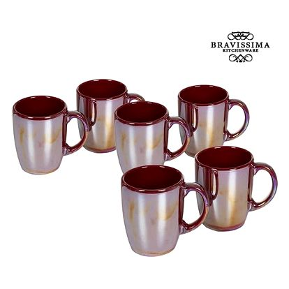 Set of jugs China crockery Burgundská 6 pcs - Kitchens Deco Kolekce by Bravissima Kitchen