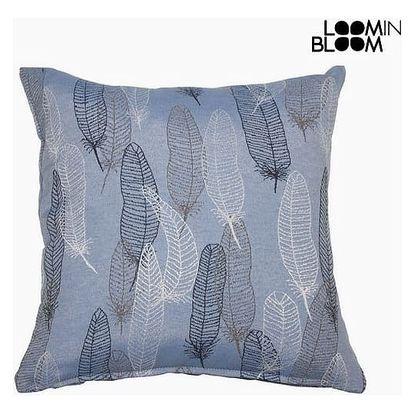 Polštářek Peří Modrý 60 x 60 cm - Jungle Kolekce by Loom In Bloom