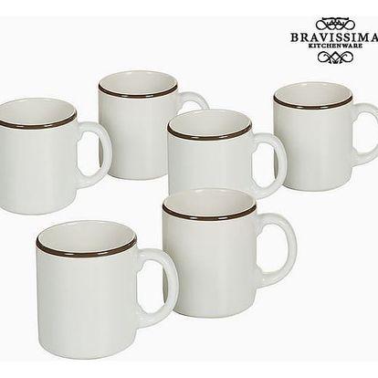 Set of jugs China crockery Bílý Kaštanová 6 pcs - Kitchens Deco Kolekce by Bravissima Kitchen