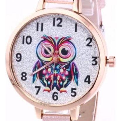 Náramkové hodinky se sovičkou - 9 barev