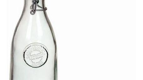 Láhev z recyklovaného skla s víčkem Transparentní - Pure Crystal Kitchen Kolekce by Bravissima Kitchen