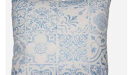 Polštářek Modrý 60 x 60 cm - Queen Deco Kolekce by Loom In Bloom