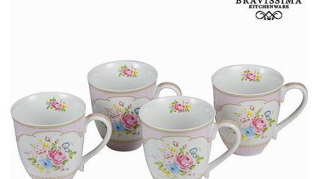 Sada 4 hrnků s krabičkou bouquet - Kitchens Deco Kolekce by Bravissima Kitchen