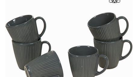 Sada 6 šedých džbánů - Kitchens Deco Kolekce by Bravissima Kitchen