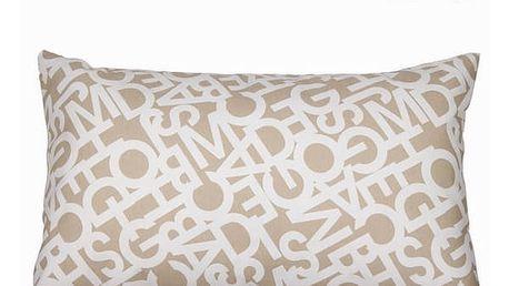 Abc beige cushion 30x50 cm by Loom In Bloom