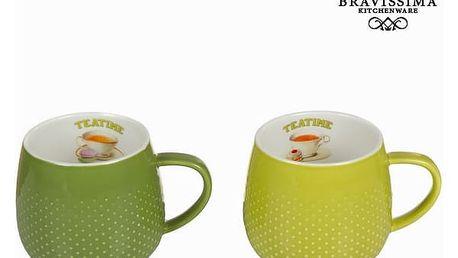 Sada 2 zelených šálků tea time - Kitchens Deco Kolekce by Bravissima Kitchen