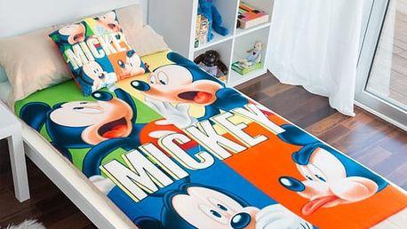 Souprava Přikrývka a Polštář Mickey