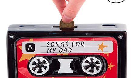 Keramická audiokazeta kasička