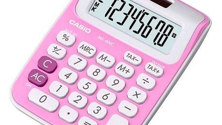 Kalkulačka Casio MS-6NC Růžový