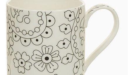 Cup Porcelán Černý Béžový - Kitchens Deco Kolekce by Bravissima Kitchen
