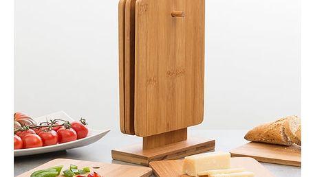 Set Bambusových Krájecích Desek ve Stojanu TakeTokio 7 kusů