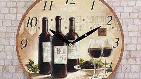 Nástěnné Hodiny Víno