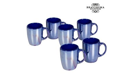 Set of jugs China crockery Námořnický modrý 6 pcs - Kitchens Deco Kolekce by Bravissima Kitchen