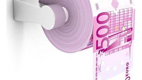Toaletní papír z euro pětistovek