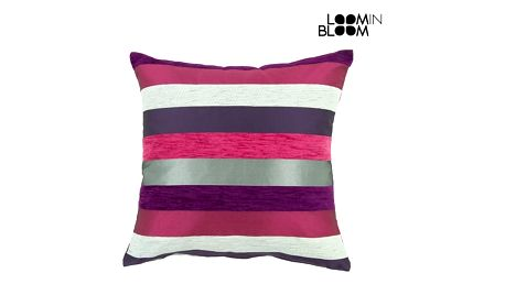 Purpurový polštářek motegi - Colored Lines Kolekce by Loom In Bloom