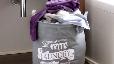 Vak na Špinavé Prádlo Grey Laundry Wagon Trend