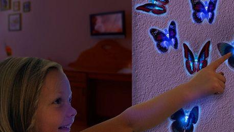 LED Motýl s Přísavkou
