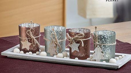 Vánoční Svícen na Stůl Christmas Planet