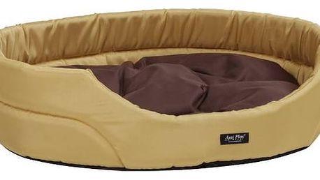 Pelech Argi pro psa oválný s polštářem - XL hnědý + Doprava zdarma