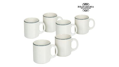 Set of jugs China crockery Bílý Modrý 6 pcs - Kitchens Deco Kolekce by Bravissima Kitchen