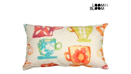 Barvaed cups cushion by Loom In Bloom