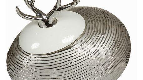 Stříbrná krabice s bílým víkem by Homania