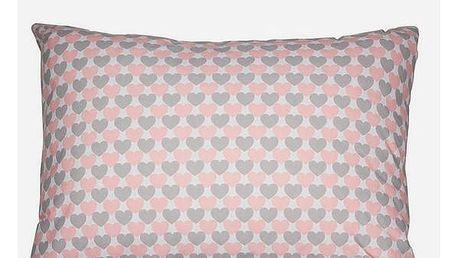 Polštářek Love Růžový 50 x 70 cm - Little Gala Kolekce by Loom In Bloom