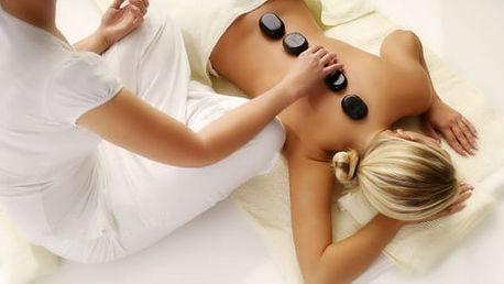 Zdravotní masáž zad a šíje vč. zábalu či lávové kameny