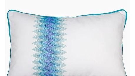 Polštářek Modrý / Bílý 30 x 45 cm - Sweet Dreams Kolekce by Loom In Bloom