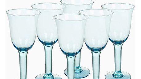Sklenice z recyklovaného skla 6 pcs 500 ml Modrý - Crystal Colours Kitchen Kolekce by Bravissima Kitchen