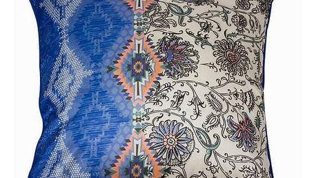 Napůl květinový polštářek 45x45 by Loom In Bloom