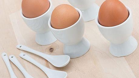 Stojánky na Vajíčka se Lžičkami 8 částí