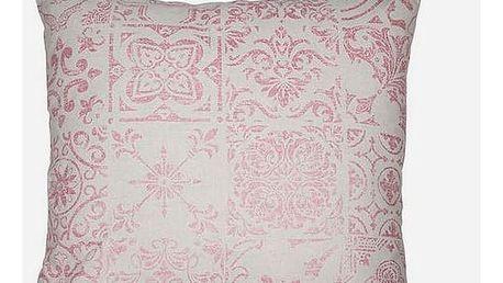 Polštářek Růžový 45 x 45 cm - Queen Deco Kolekce by Loom In Bloom