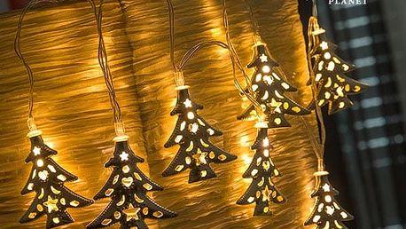 LED Řetěz Vánoční Stromek Christmas Planet 10 LED
