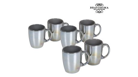Set of jugs China crockery Šedý 6 pcs - Kitchens Deco Kolekce by Bravissima Kitchen