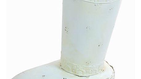 Bílý stojan na deštníky - Art + Metal Kolekce by Homania